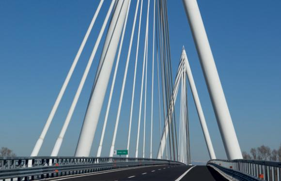 18. Cable Stayed bridge over the Adige river, Piacenza d'Adige (Italy)